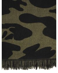 Hydrogen - Green Military Camouflage Wool Scarf for Men - Lyst