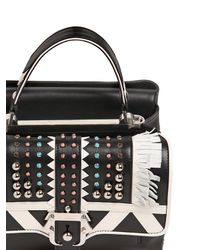 Paula Cademartori - White Petite Faye Studded Leather Bag W/fringe - Lyst