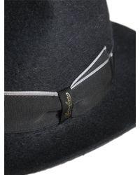 Borsalino - Black Alessandria Long Fur Felt Brimmed Hat for Men - Lyst