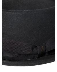 Borsalino - Black Lapin Fur Felt Pork Pie Hat - Lyst