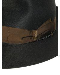 Borsalino - Green Anello Gazzella Long Fur Felt Hat for Men - Lyst