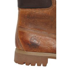 Timberland | Brown Heritage 6-inch Washed Leather Boots for Men | Lyst