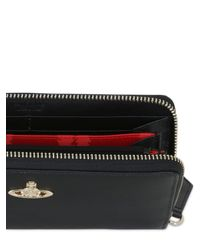 Vivienne Westwood Black Small Zip Around Wallet