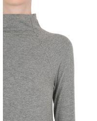 Transit - Gray Modal Cashmere Knit Dress - Lyst