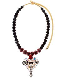 Bijoux De Famille - Multicolor Karl God Cross Necklace - Lyst