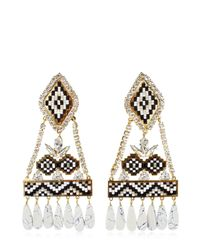 Shourouk | Ramses Black Earrings | Lyst