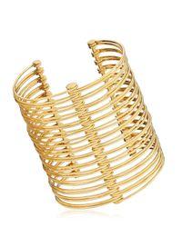 La Perla - Metallic Ebony Cuff Bracelet - Lyst