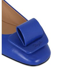 Bruno Magli - Blue 20mm Buckled Leather Ballerina Flats - Lyst