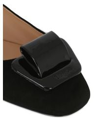 Bruno Magli - Black 20mm Buckled Suede Ballerina Flats - Lyst
