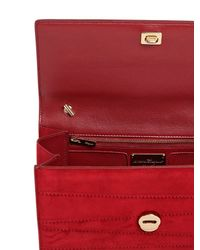 Ferragamo - Multicolor Ginny Suede Shoulder Bag - Lyst