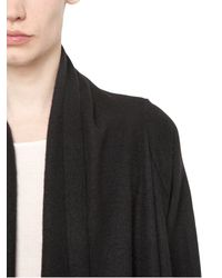 Rick Owens | Black Boiled Cashmere Wrap Cardigan for Men | Lyst