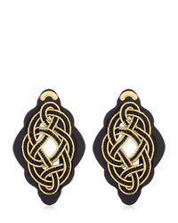 Anna E Alex | Metallic Regina Nera Wooden Frame & Rope Earrings | Lyst
