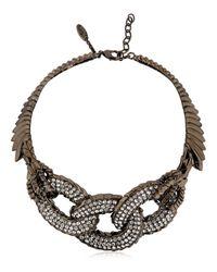 Giuseppe Zanotti | Metallic Swarovski Embellished Chain Choker | Lyst
