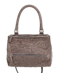 Givenchy | Brown Small Pandora Washed Leather Shoulder Bag | Lyst