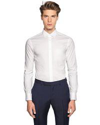 Z Zegna | White Slim Fit Stretch Cotton Poplin Shirt for Men | Lyst