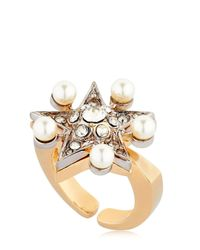 Schield | Multicolor Star Line Ring W/ Swarovski Crystals | Lyst