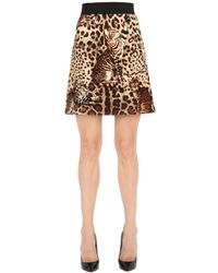 Dolce & Gabbana | Multicolor Leopard Printed Wool Cloth Mini Skirt | Lyst