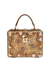 Dolce & Gabbana | Metallic Brocade & Ayers Snakeskin Dolce Bag | Lyst