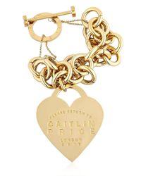 Maria Francesca Pepe | Metallic Caitlin Price Heart & Chain Bracelet | Lyst