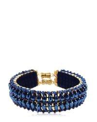 Only Child | Metallic Blue Flash Crystal Collar | Lyst