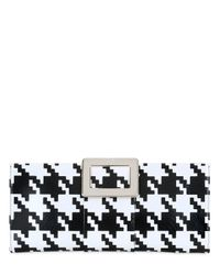 Roger Vivier | Multicolor Belle Vivier Houndstooth Leather Clutch | Lyst