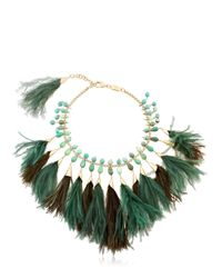 Rosantica | Green Faggio Feathered Necklace | Lyst