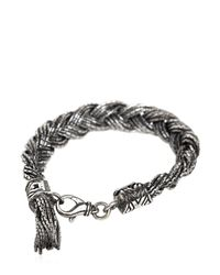 Emanuele Bicocchi - Metallic Braided Silver Chain Bracelet for Men - Lyst