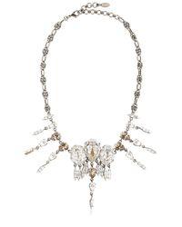 On Aura Tout Vu | Metallic Rain Crystal Necklace | Lyst
