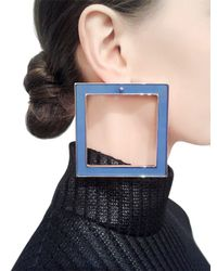 Sylvio Giardina - Blue Seven 7 Large & Small Square Earrings - Lyst