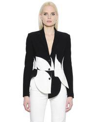 Antonio Berardi | White Asymmetrical Stretch Crepe Cady Jacket | Lyst