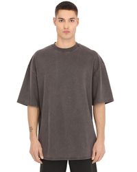 Yeezy | Gray Heavy Cotton Jersey Oversized T-shirt for Men | Lyst