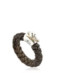 Betony Vernon | Black Noble Rope Ring For Lvr | Lyst