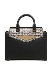 Vionnet - Multicolor Elaphe & Grained Leather Top Handle Bag - Lyst