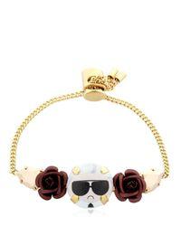 Bijoux De Famille | Metallic Karl Rosary Mini Chain Bracelet | Lyst