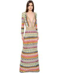 Missoni   Multicolor Zigzag Viscose & Lamé Knit Dress   Lyst