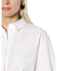 Marni - White Crisp Cotton Shirt W/ Ruffled Hem - Lyst