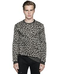 Just Cavalli | Multicolor Leopard Viscose & Cotton Knit Sweater for Men | Lyst
