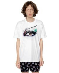 KENZO | White Eye Printed Techno Jersey T-shirt for Men | Lyst