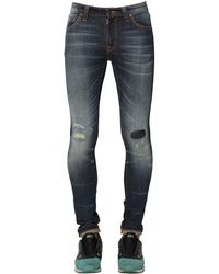 Nudie Jeans | Blue 15cm Skinny Lin Cotton Denim Jeans for Men | Lyst