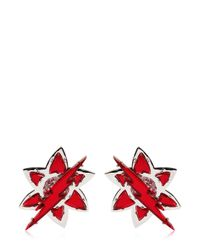 DSquared² | Red Lightening Bolt Crystal Earrings | Lyst