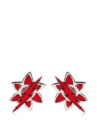 DSquared² | Red Lightening Bolt Crystal Earrings | Lyst