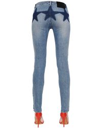 Givenchy | Blue Cotton Denim Jeans W/ Stars | Lyst