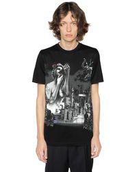 Lanvin   Black The Refinery Print Cotton Jersey T-shirt for Men   Lyst