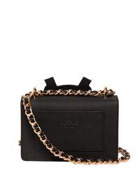 Moschino - Black Teddy Bear Tab Leather Shoulder Bag - Lyst