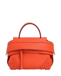 Tod's | Orange Micro Wave Grained Leather Bag | Lyst
