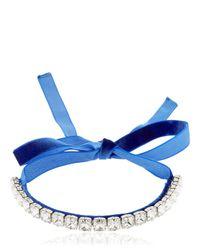 Giuseppe Zanotti | Blue Crystal Choker Necklace | Lyst