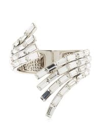 Giuseppe Zanotti | Metallic Wrap Around Crystal Cuff Bracelet | Lyst