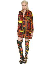 Fausto Puglisi | Multicolor Oversized Printed Silk Twill Shirtdress | Lyst