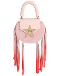 Salar | Pink Mimi Fringed Leather & Suede Bag | Lyst