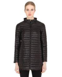 Duvetica | Black Eledhwen Quilted Nylon Long Down Jacket | Lyst